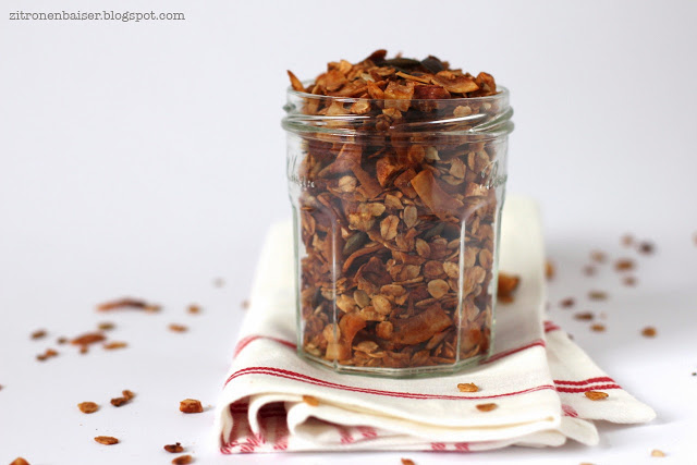 Rezept Kokosgranola selbstgemachtes Knuspermüsli