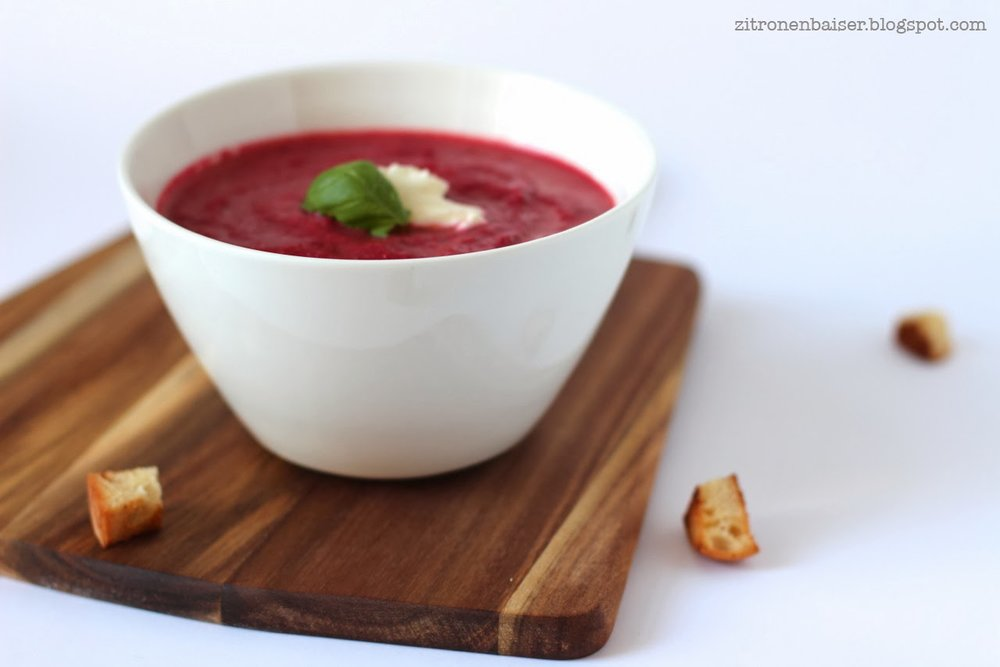 Rezept Rote Bete Suppe lecker feurig