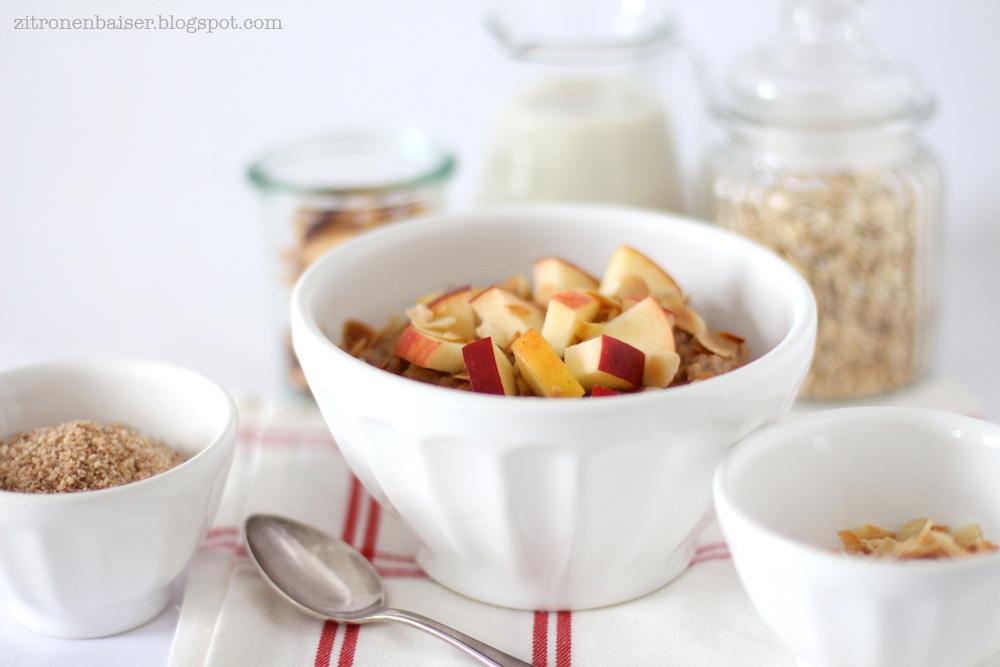 Rezept Weihnachtliches Bratapfel Porridge Zitronenbaiser Foodblog