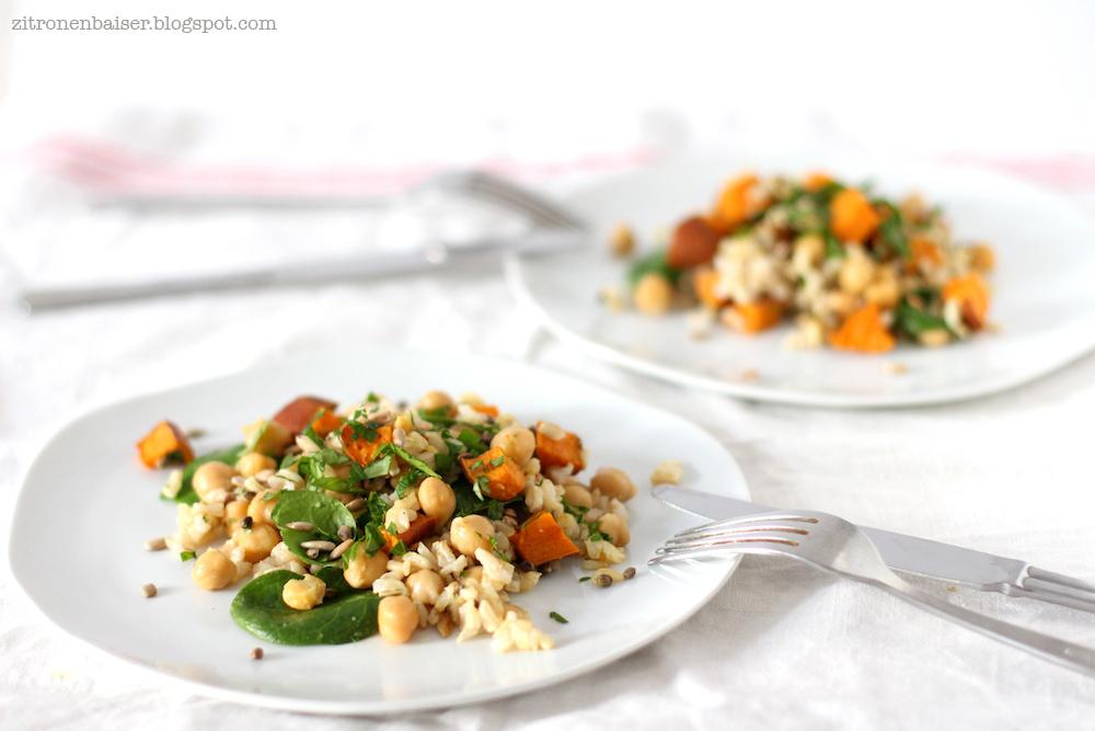 Rezept leckerer Wintersalat mit Süßkartoffel Zitronenbaiser Foodblog