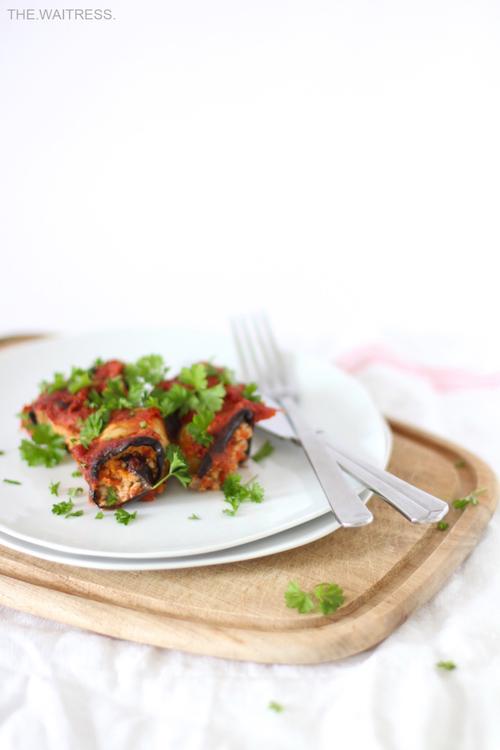 Tolles Rezept für Auberginen-Involtini - vegan und gesund