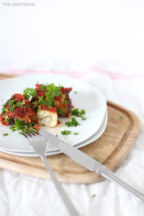 Rezept für vegane Auberginen-Involtini