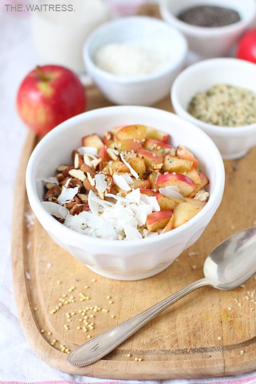 Frühstücksglück: Veganes Hirse-Porridge mit Äpfeln / THE.WAITRESS. Blog