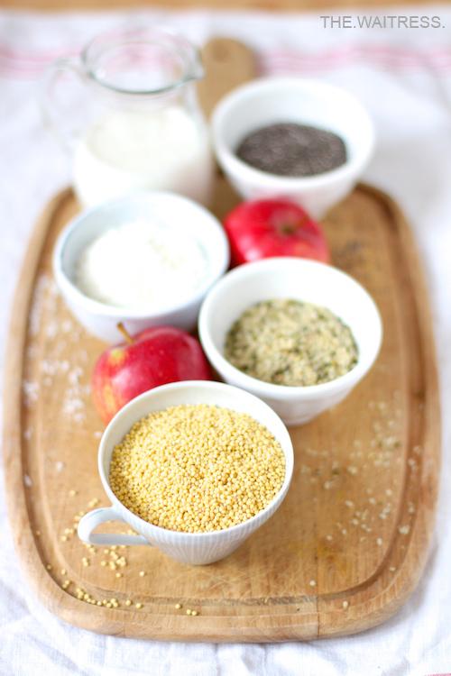 Zutaten für ein leckeres Hirse-Porridge / THE.WAITRESS. Blog