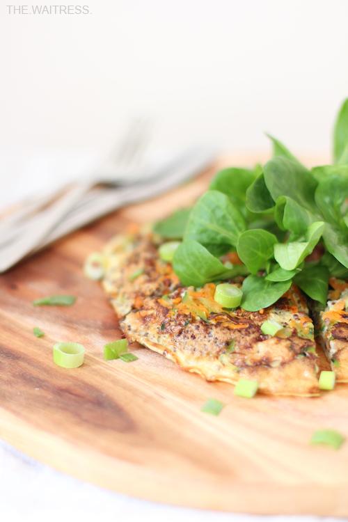 Rezept für eine leckere Gemüse-Frittata mit Quinoa /Theresa Kellner