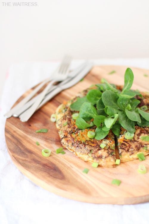 Rezept vegetarische Frittata mit Gemüse und Quinoa / Theresa Kellner