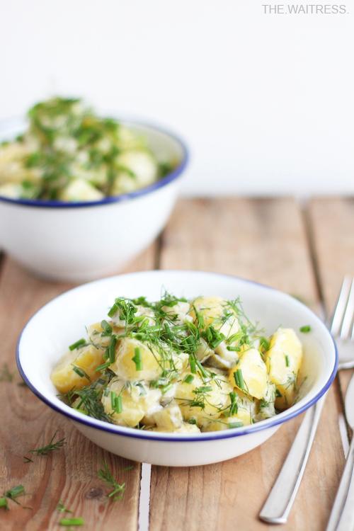 Rezept für den allerbesten veganen Kartoffelsalat / THE.WAITRESS. Blog