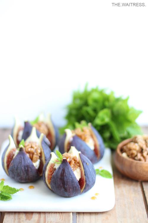 Rezept Feigen mit Ziegenkäse und karamellisierten Walnüssen / THE.WAITRESS. Blog