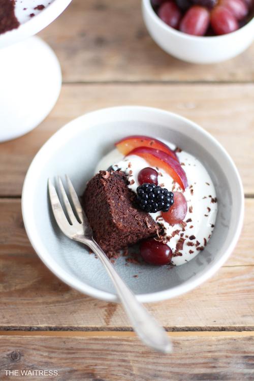 Rezept für köstlichen Rotweinkuchen mit Mascarponecreme / THE.WAITRESS.
