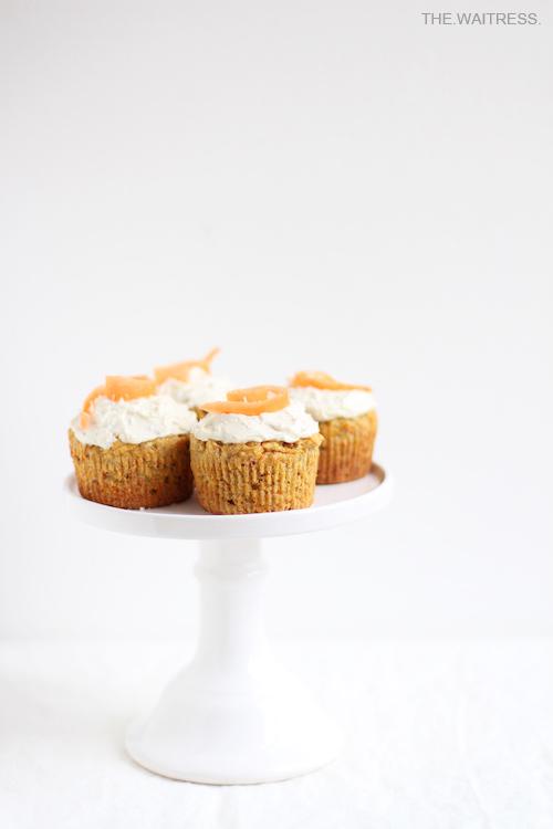 Gesunde Carrot Cake Cupcakes / THE.WAITRESS. Blog