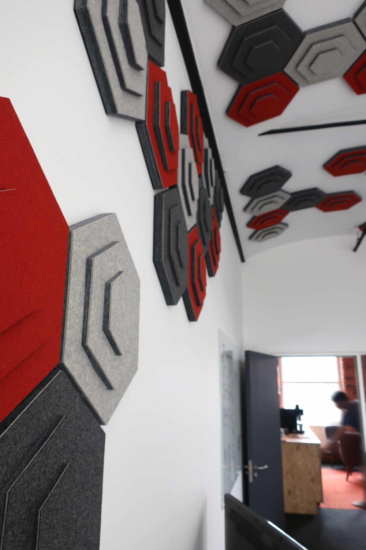 meeting room acoustic tiles