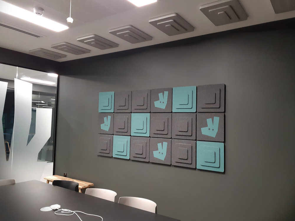 acoustic tiles with logo