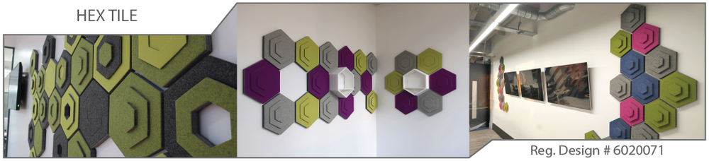 Hexagon acoustic tiles