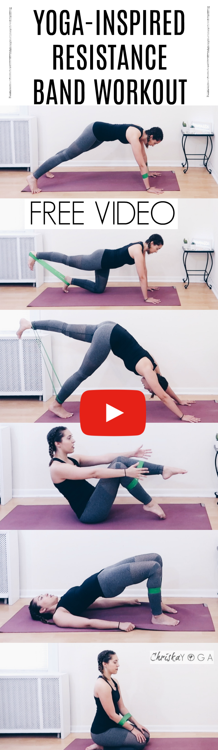 20 Minute Yoga Workout With A Resistance Band