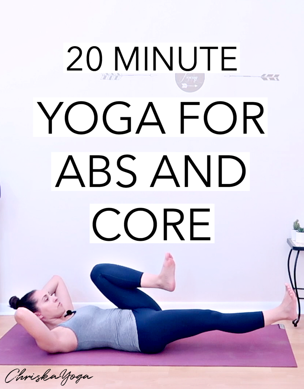 Yoga for Abs and Core - 20 minute at home yoga class for abs and core workout