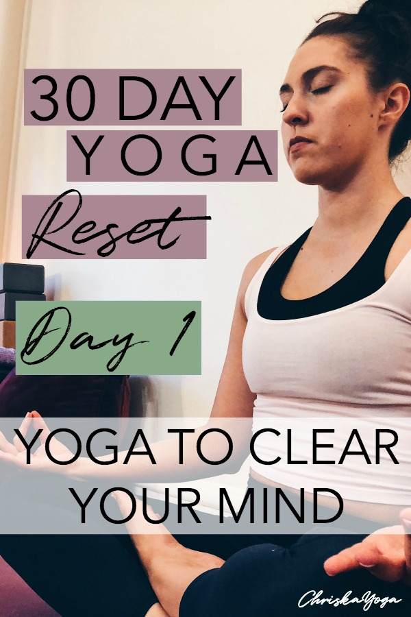 25 minute hatha yoga to clear your mind - 30 day yoga challenge