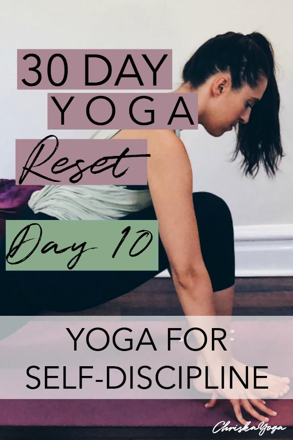 20 minute hatha yoga for self-discipline - 30 day yoga challenge