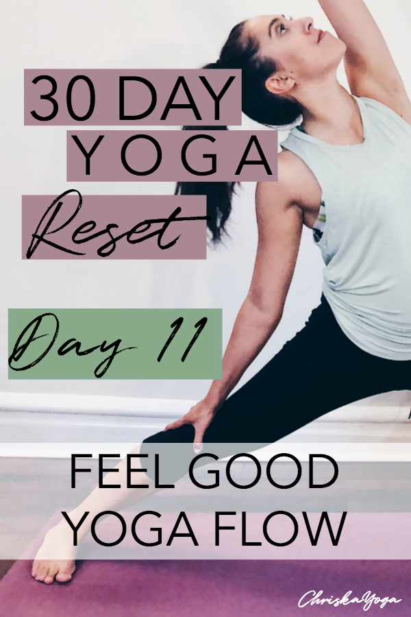 20 minute yoga flow to feel good - 30 day yoga reset challenge