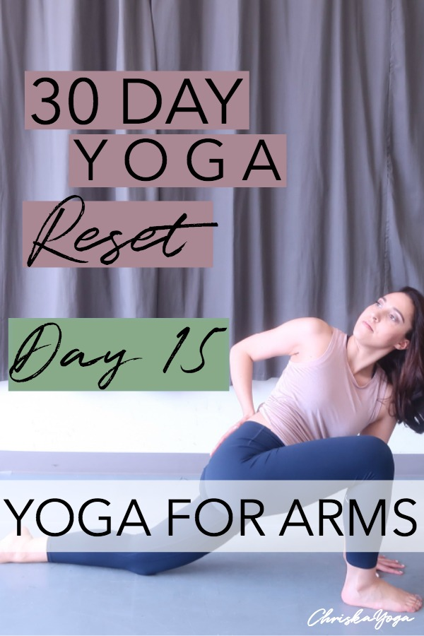 15 minute yoga workout for arms - hatha yoga at home for arms - arm workout