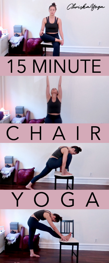15 Minute Chair Yoga Routine | Yoga in a chair | Office Chair Yoga | Yoga for Seniors | Yoga At Your Desk