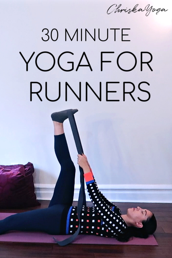 30 minute hatha yoga stretch for runners - yoga stretch for IT band, quads, hamstrings, low back