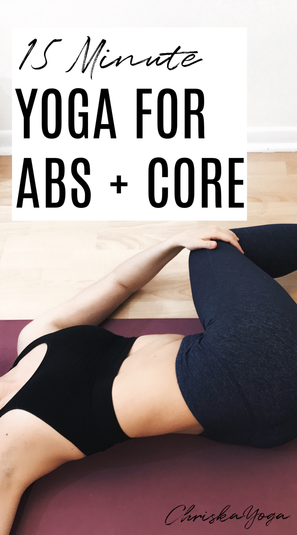 15 minute yoga for abs and core - yoga workout for abs