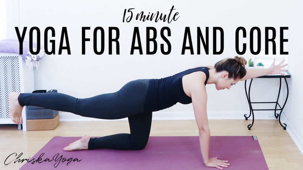 15 Minute yoga for abs and core muscles - yoga workout for abs and core - yoga for core strength