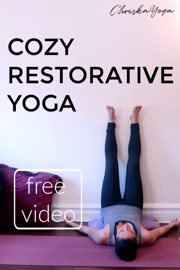 25 minute restorative yoga class with props - relaxing restorative yoga