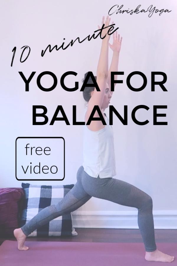 10 minute yoga for balance - yoga class to improve balance
