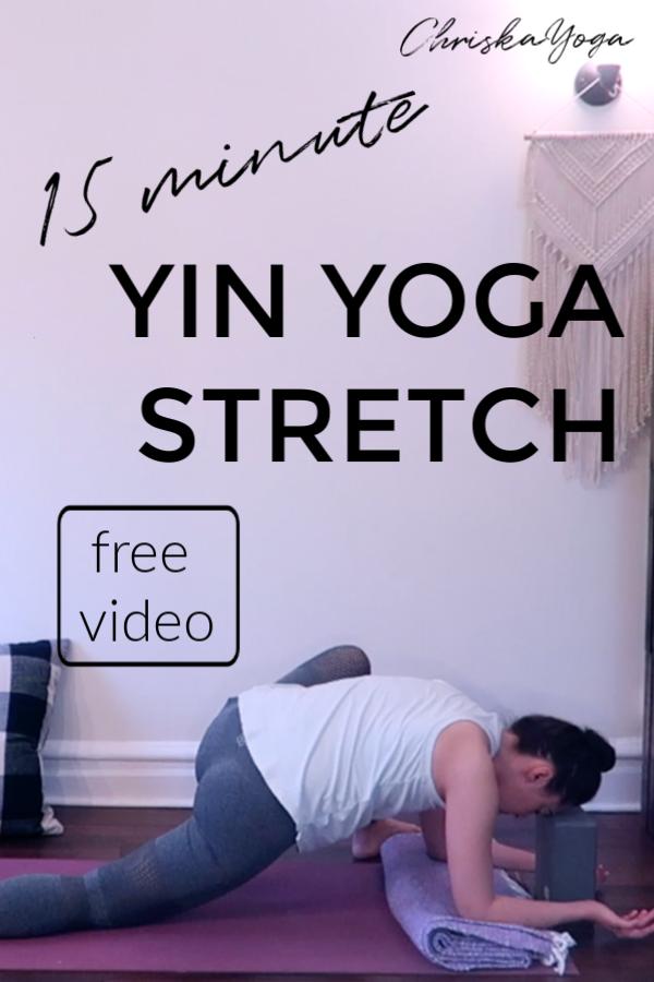 15 minute yin yoga stretch - yin inspired yoga stretch