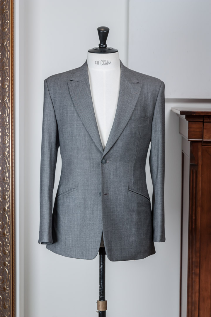 Birdseye light grey vintage suit Smith Woollens