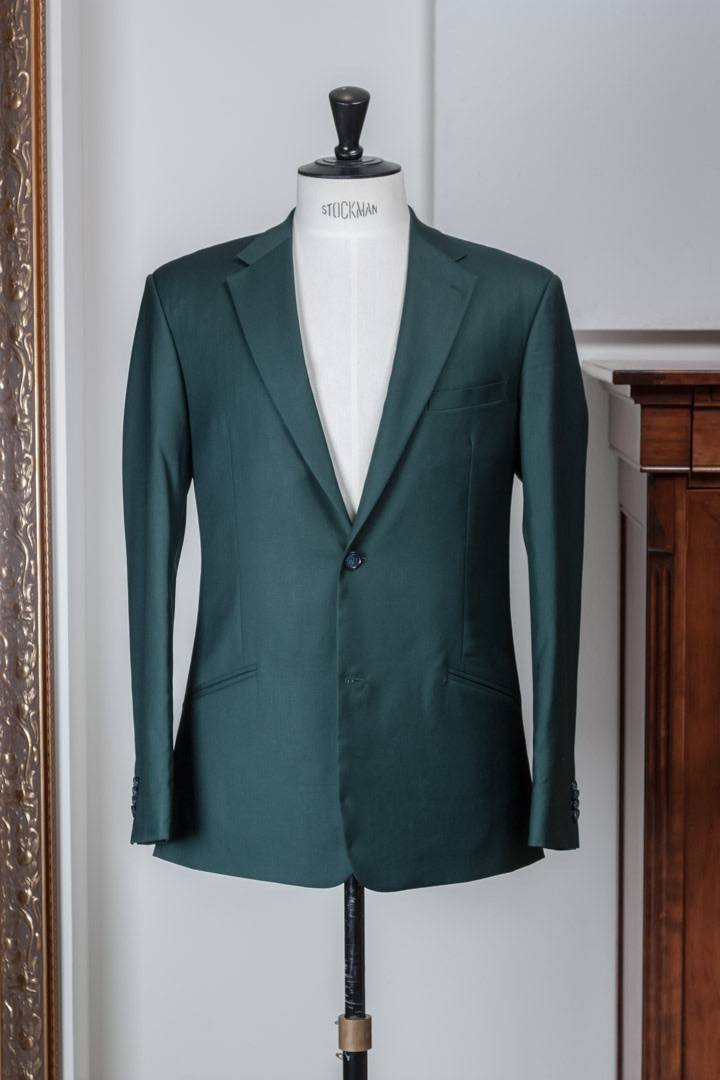 Dark Forest Green super 100's suit Gabardine