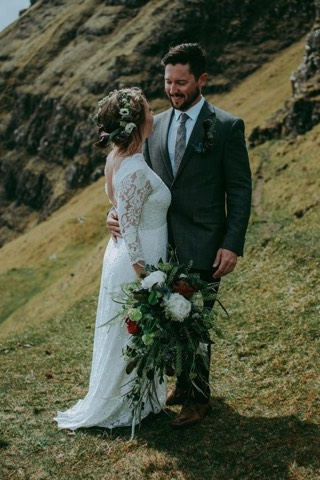 What is a wedding suit?:  There is not such a thing as a wedding suit per se. It could be an out fit purely for that day or maybe you would like to wear after wards to? Did you think about your partners style, the location and so much more? Well we have done this a few hundred times so we think we can share some experience and ideas with you to make your wedding outfit and the day unforgettable.    Click for inspiration and ideas.