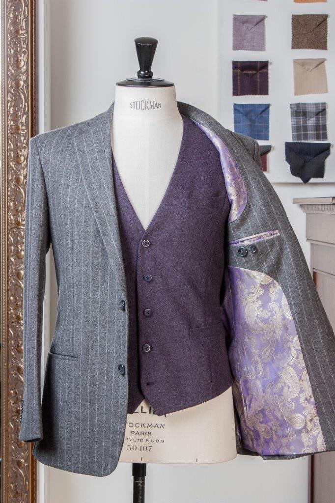 Gray+Grey+Flannel+Chalkstripe+3+piece+Suit+-+2+buttons+-+Paisley+Lining+-+Purple+Waistcoat+-+Fishtail+Trousers+buckle+and+turnup+(10).jpg