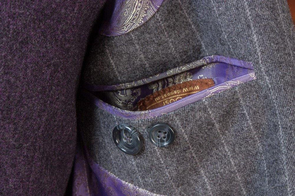 Gray+Grey+Flannel+Chalkstripe+3+piece+Suit+-+2+buttons+-+Paisley+Lining+-+Purple+Waistcoat+-+Fishtail+Trousers+buckle+and+turnup+(9).jpg