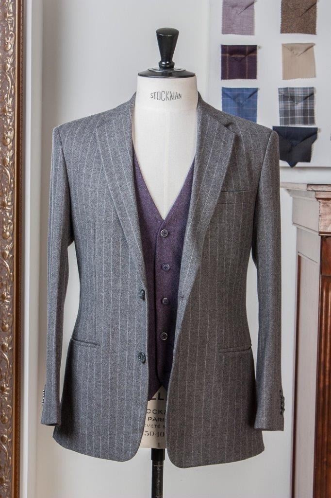 Gray+Grey+Flannel+Chalkstripe+3+piece+Suit+-+2+buttons+-+Paisley+Lining+-+Purple+Waistcoat+-+Fishtail+Trousers+buckle+and+turnup+(7).jpg