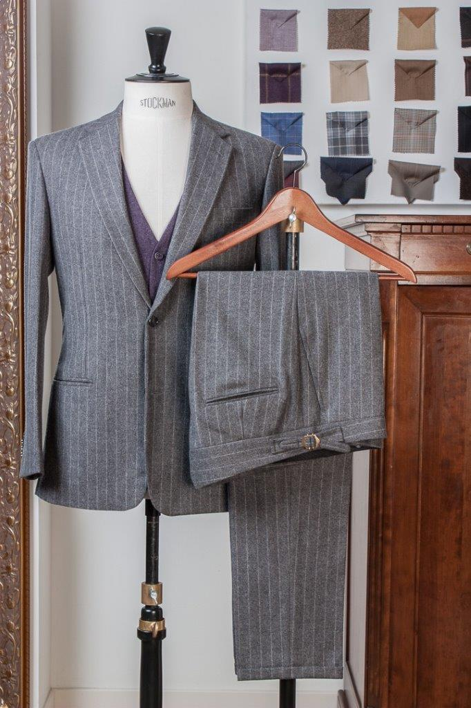 Gray+Grey+Flannel+Chalkstripe+3+piece+Suit+-+2+buttons+-+Paisley+Lining+-+Purple+Waistcoat+-+Fishtail+Trousers+buckle+and+turnup+(1).jpg