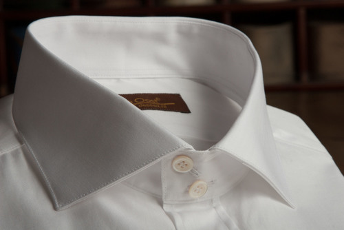 White Wide Spread Collar Shirt with Bevelled Cuffs.jpg