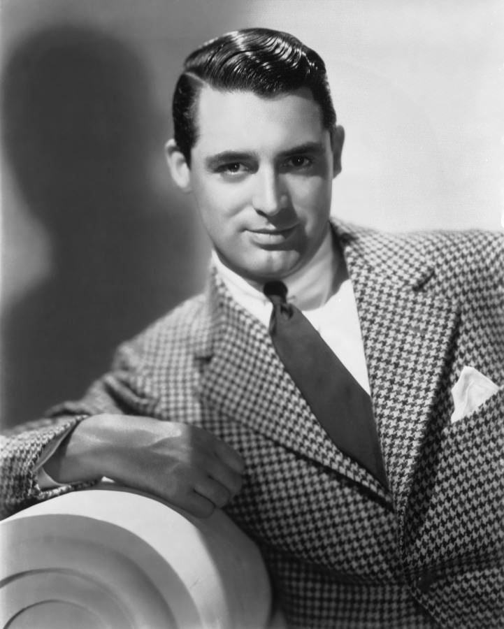 Actor Cary Grant and in Houndstooth clothing.