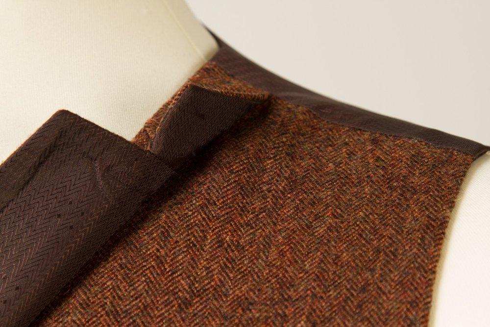 6954+-+Waistcoat+Vest+Gilet+tailor+made+Rust+Herringbone+38+inch+(8).jpg