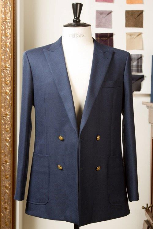 Blue+Hopsack+Double+Breasted+Blazer+Sportsjacket+with+Golden+Like+Buttons+(2).jpg