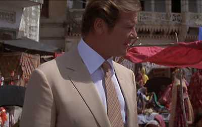 Roger Moore as James Bond in Octopussy (1983).