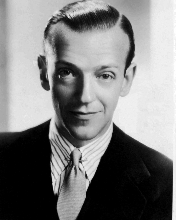 Fred Astaire wearing a Bengal striped shirt