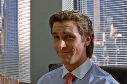 Christian Bale as Patrick Bateman in American Psycho