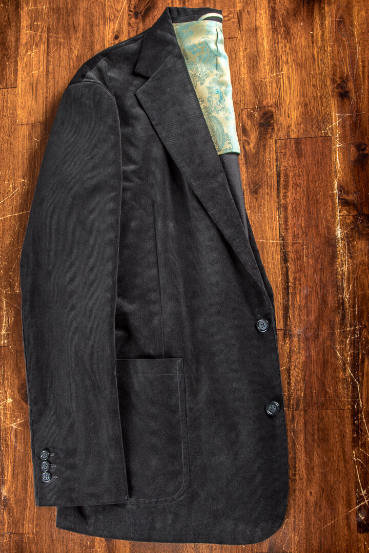 - Corduroy Fine Dark Forrest Green Unlined Sports Jacket Patch Pockets