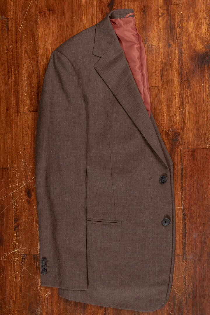 - Bespoke travelers suit crease free hazel solid