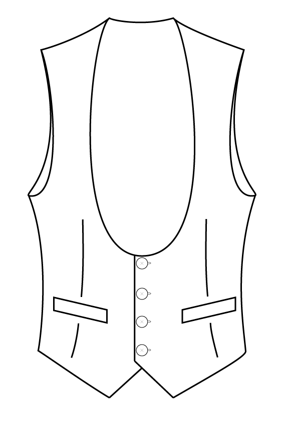 4 button rounded lapel pointed bottom waistcoat.png