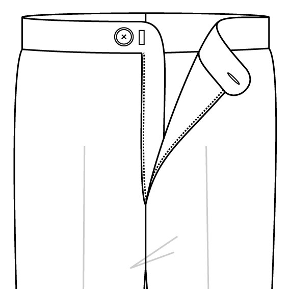 Zipped fastening trousers fastening.png