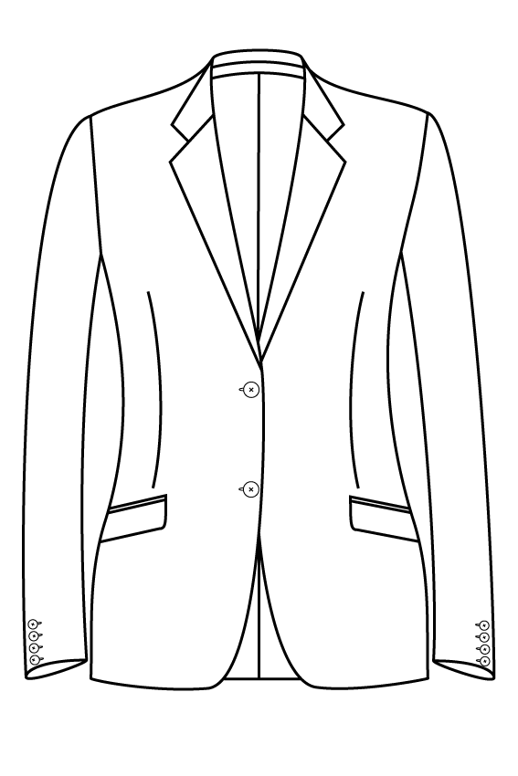 2 button notch lapel slanted pockets ladies jacket blazer suit bespoke tailor made amsterdam.png