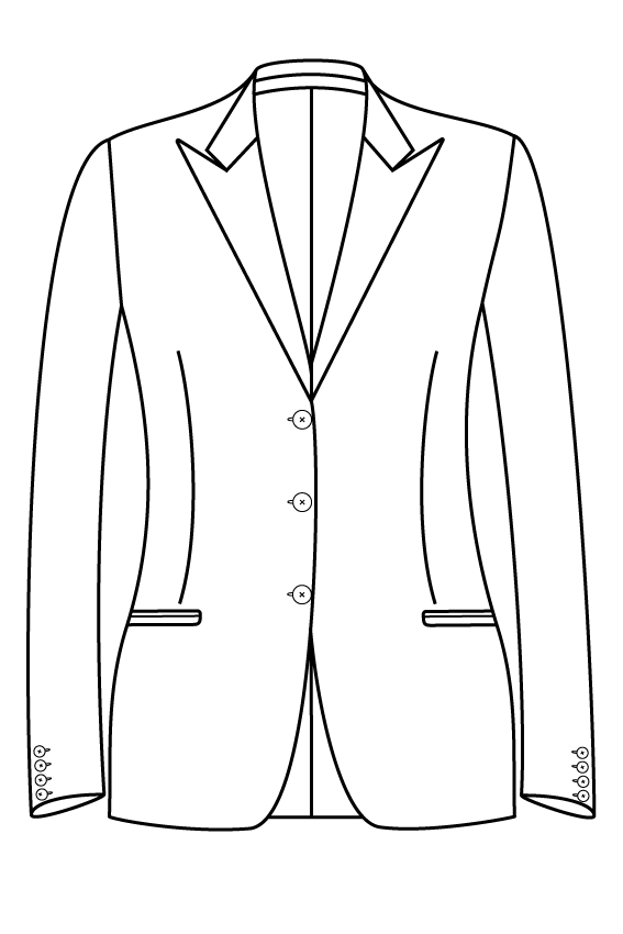3 button peak lapel welted pockets ladies jacket blazer suit bespoke tailor made amsterdam.png